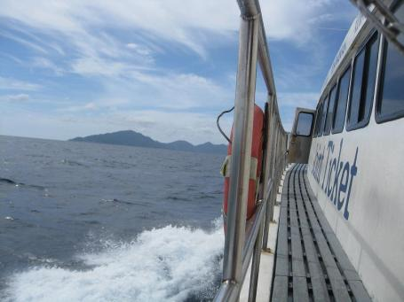 ...that's Ko Tao ahead (after 3 hours)